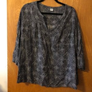 Old Navy Boho poetic top XL